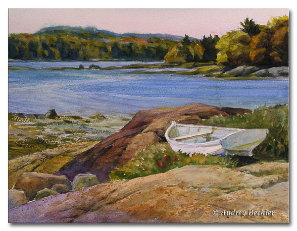 Watercolor by Audrey Bechler Waldoboro, Maine
