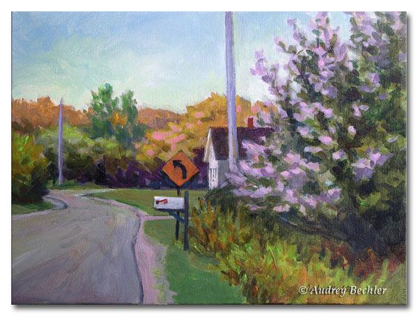 Curve Ahead, Acrylic, Audrey Bechler Waldoboro, Maine