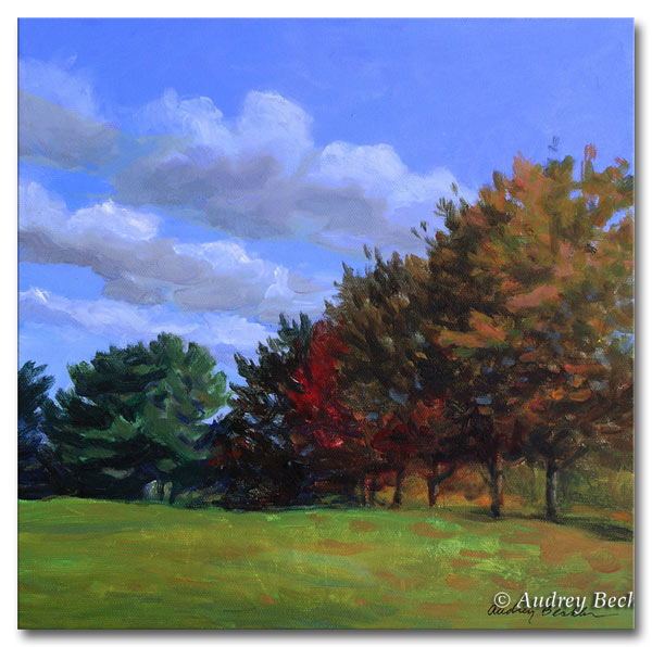 Fall Color II, Acrylic, Audrey Bechler Waldoboro, Maine
