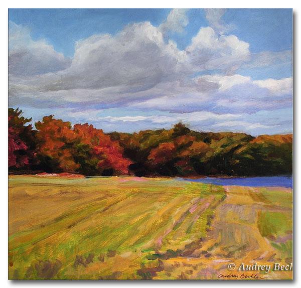 Fall Color III, Acrylic, Audrey Bechler Waldoboro, Maine