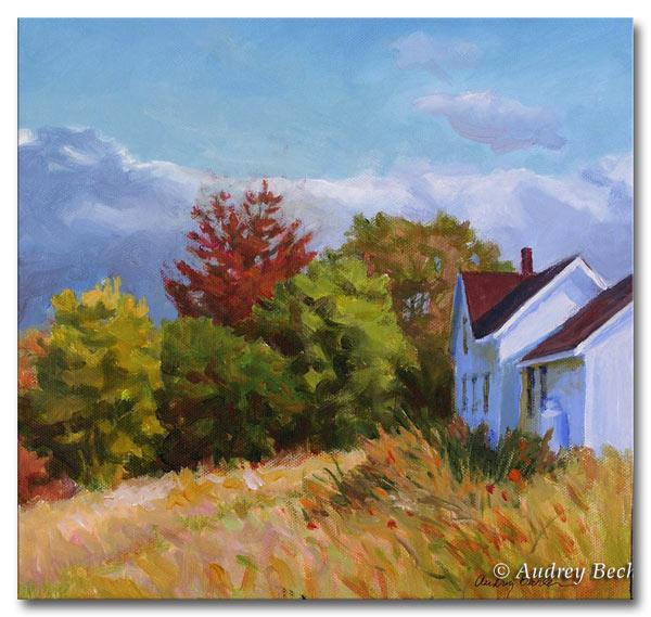 Fall Color V, Acrylic, Audrey Bechler Waldoboro, Maine