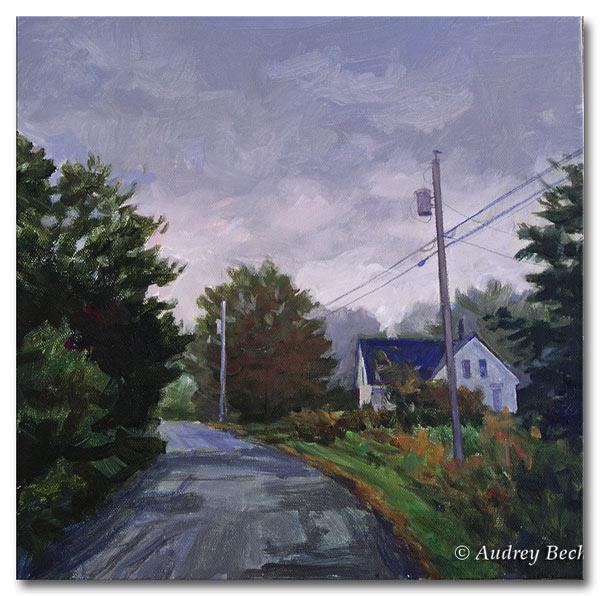 Rainy Day, Acrylic, Audrey Bechler Waldoboro, Maine